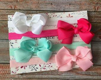 Bow Headbands/Bow Headband Set/Baby Headband Set/Baby Headbands/Baby Shower Gift/Bows/Newborn Headbands/Baby Girl Headbands/Toddler Headband