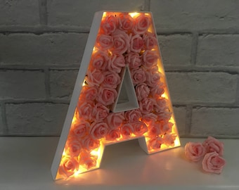 light up letter led initial letter with lights childrens bedroom decor led light up letter nursery light floral letter light