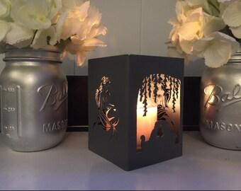Mermaid inspired candleholder