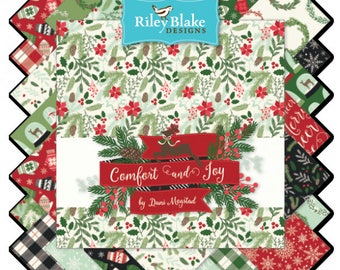 Comfort and Joy Bundle by Dani Magstad for Riley Blake, Choose Your Bundle Size, Complete Collection, 25 Fabrics Including Panel, Christmas