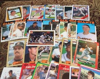 41 Giants Baseball Cards 1980's