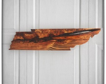 Ships Now! - Tennessee State Shape Wooden Cutout - Wedding - Housewarming - Anniversary - Birthday - Gift