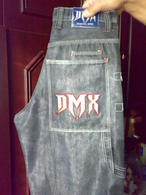dmx vintage baggy blue 90s hip hop clothing 1990s