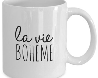 LA VIE BOHEME - Rent The Musical Inspired Mug - Broadway Fan Gift - 11 oz white coffee tea cup
