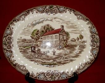 Johnson Bros Heritage Hall 12'' Platter