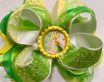 Tinkerbell Stacked Boutique Bow