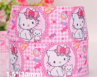 "1.5""Hello kitty pink inspired ribbon"