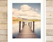 Lake District print, Lake wall art, Lakes photography, lake district wall art, large lakes print, jetty print, jetty wall art