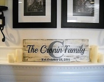 Family Sign, Surname Sign, Anniversary Sign, Family Anniversary, Sign, Wedding Sign
