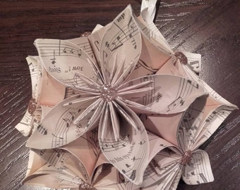 Music paper origami decoration