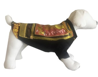 Small, Black, Retro Graphic Dog Shirt