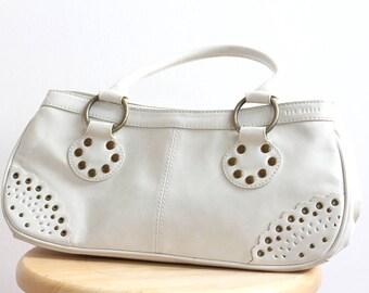 TED BAKER White Leatherette Handbag, White handbag, Summer Handbag