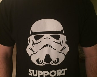 """Star Wars Inspired T-Shirt // Stormtrooper T-Shirt with """"Support Our Troops"""""""