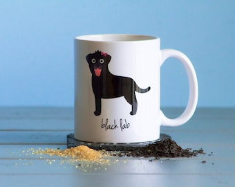 Black Lab Mug (girl)