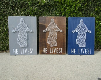 He Lives! Christ String Art *Made-to-Order*