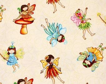 Fairies Girls Fabric by Henry Glass Fabrics by the Half Yard