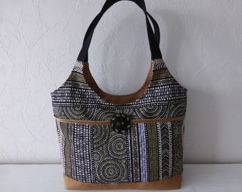 Hand ethnic Aboriginal fabrics jacquard, multicolored, handmade, shoulder bag, handmade