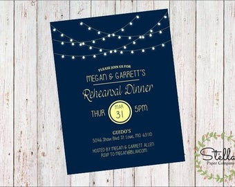 String Lights Party Invitation (Digital Download)