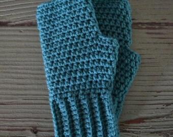 Fingerless Gloves, Crocheted Fingerless Gloves, Jade Fingerless Gloves, Gloves, Fingerless Mittens