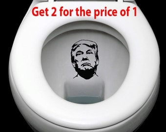 Anti-Trump, trump, Donald Trump, No Trump, Not My President, Dump Trump, Flush Decal, Toilet Decal, Love Trumps Hate, Decals, Stickers, Gift