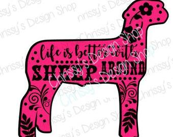 Sheep svg / lamb svg / show lamb svg / show sheep svg / farming svg / farmer dxf / sheep dxf / vinyl crafting / sheep template / sheep clip