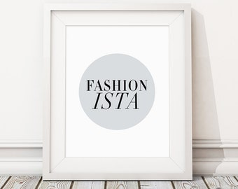 Fashion poster print, Fashionista gift, Boutique, Fashion quotes, Female bedroom art, Gift for roommate, Fast shipping to USA