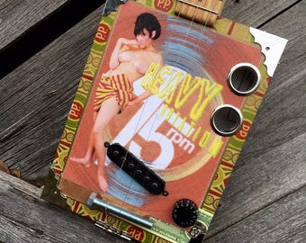 Heavy Rotation 45 RPM Cigar Box Guitar
