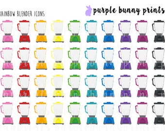 Rainbow Blender Icons // Planner Stickers!