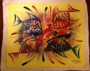 "Haitian Art ""Poisson'Ange""(Angel Fish)"
