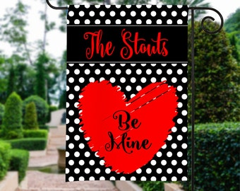 Beau Cute Valentine Garden Flag  Be Mine Heart Flag 12 By 18 Custom Yard Flag  Best