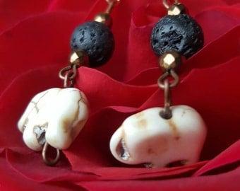 Elephant bead earrings