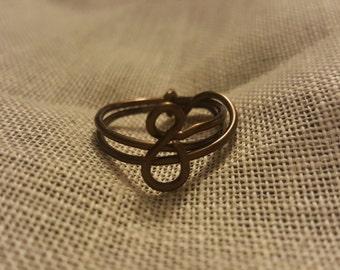 Bronze twist ring size 7