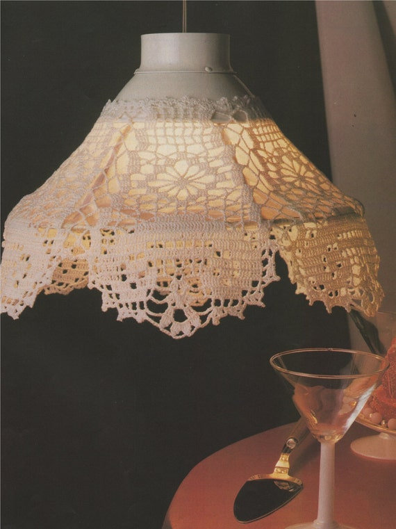 lampshade cover pdf crochet pattern   home accessories   lamp