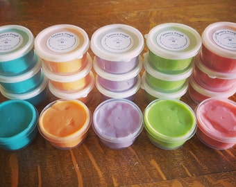 Sensory Dough ~ Play Dough infused with Essential Oils, 5-pack of colors/scents - Geranium, Peppermint, Lavender, Lime, Wild Orange
