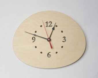 Stone clock, Cobblestone clock, Boulder, a Rock, Modern Clock, Zen decor, Large Wall Clock, Wood Clock, Wooden Wall Clock