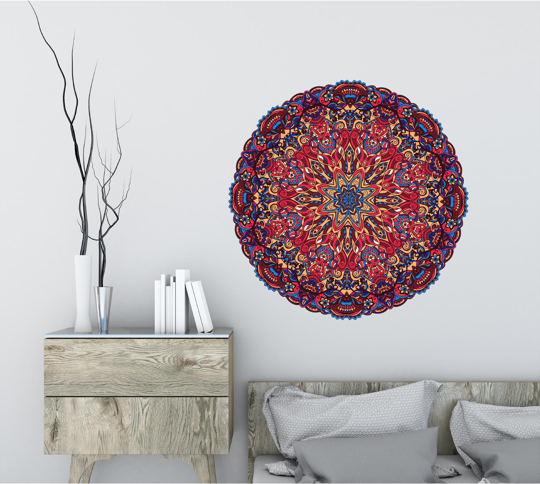 Bohe Mandala Flower Wall Paper Decor Yoga Studio Vinyl: Mandala Wall Decal Yoga Wall Decal Yoga Wall Art