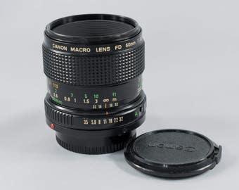 CANON FD 50mm f3.5 Macro Lens
