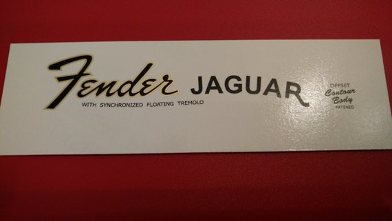 Fender Jaguar Re-issue 84-87 In Metallic Gold and Black Waterslide X2