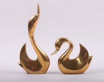Vintage, Brass, Ducks, Book Ends, Heavy, India, Modern, Abstract, Bookends ~The Pink Room ~ 161009