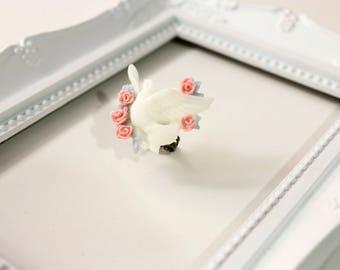 140 Spring Dove Ring, Lolita cute sweet classic kawaii paloma roses flowers