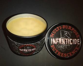 "3 oz tin, Putrescence® Pomade ""Infanticide"" - Psychobilly, Rockabilly, Goth, Punk, Horror"