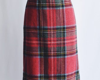 Wool skirt tube Tartan