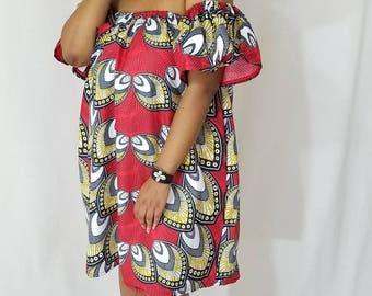 African dress, Mini dress, Ankara dress, African print dress, African Mini dress, African clothing