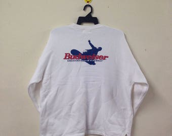 Vintage BUDWEISER Snowboard Circus Sweatshirt BUDWEISER King Of Beer Pullover