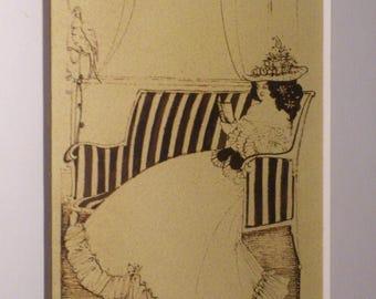 Aubrey Beardsley Original old drawing