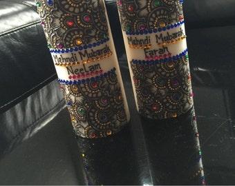 Set of 2 pillar candles (20 cm)