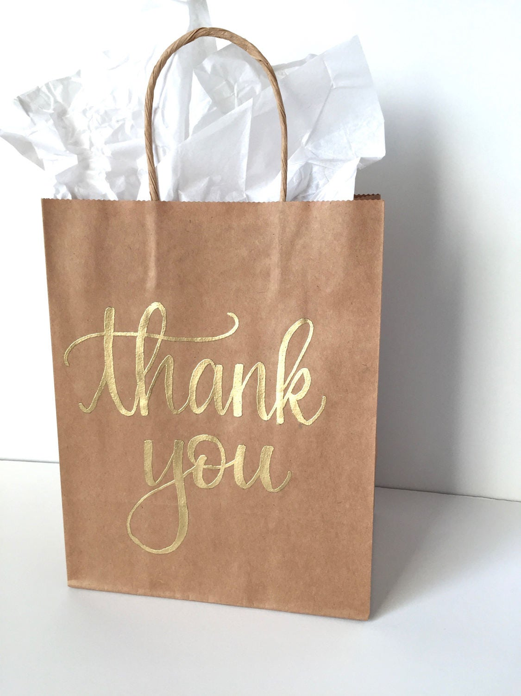 Thank You Gift Bag Birthday Favor Bag Custom Gift Bag