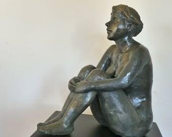 Statue Sculpture Diana Art of the Nu Design bronze color