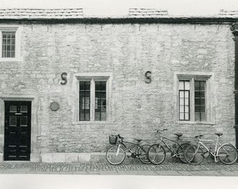 Street Scene Oxford England Bicycles Photograph Print
