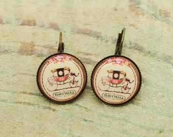 KIT /DIY earrings and cabochon 18mm